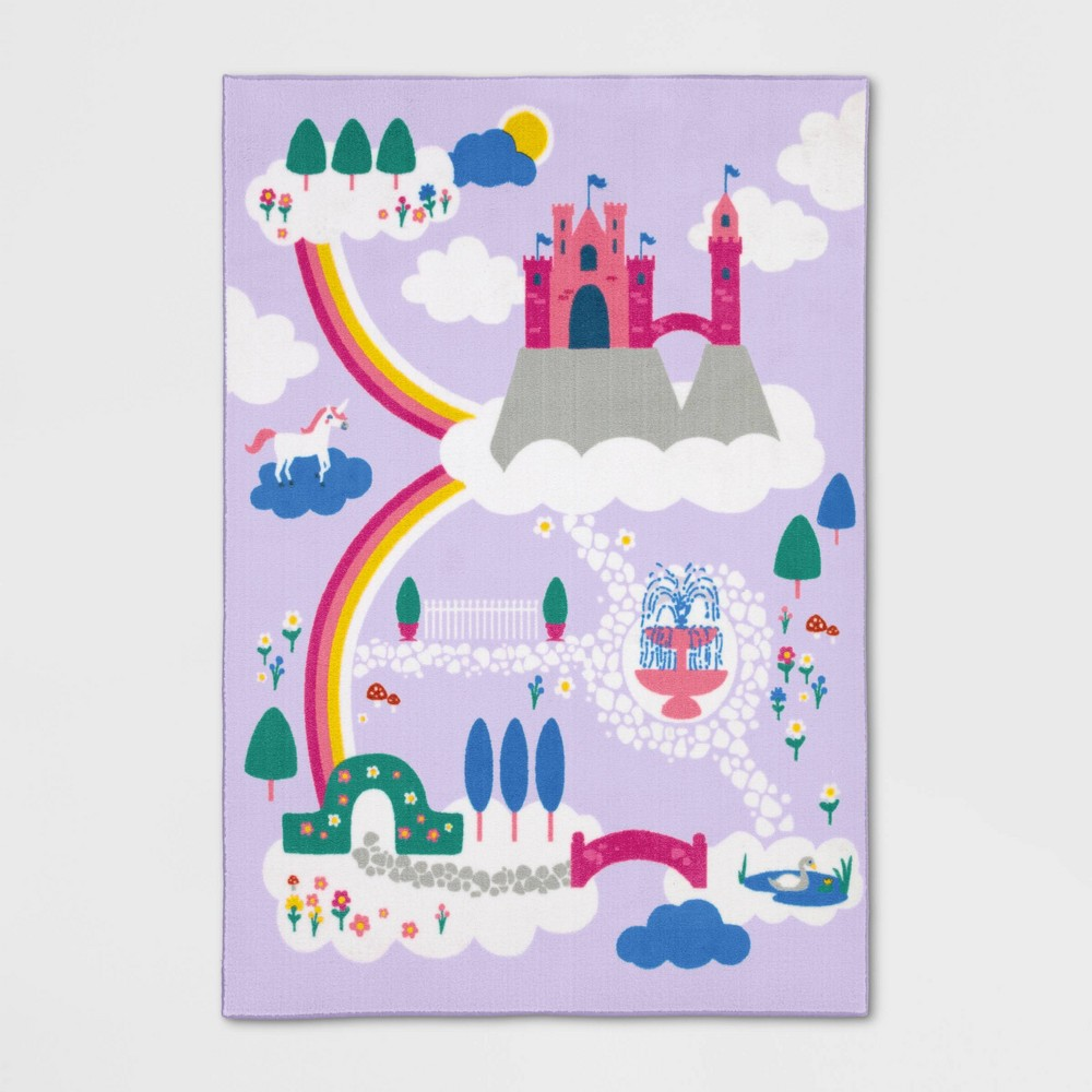 """Image of """"4'X5'5"""""""" Castle Game Rug - Pillowfort"""""""