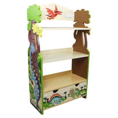 3775 Dinosaur Kingdom Bookshelf Green Brown Blue