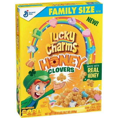 General Mills Lucky Charms Honey Clover Cereal Family Size - 19.7oz