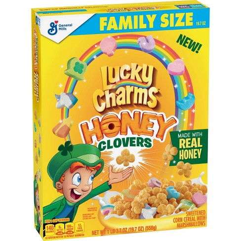 General Mills Lucky Charms Honey Clover Cereal Family Size - 19.7oz - image 1 of 3