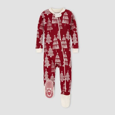 Burt's Bees Baby® Baby Organic Cotton Trees Footed Pajama - Red 0-3M