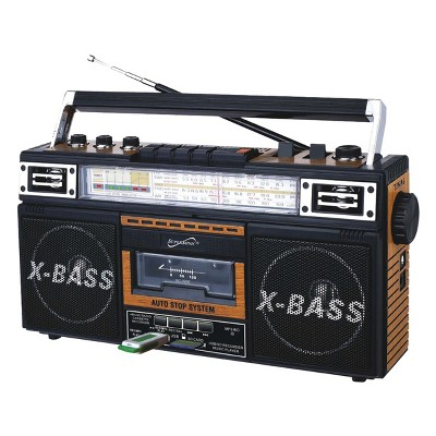 Supersonic Retro 4 Band Radio & Cassette Player
