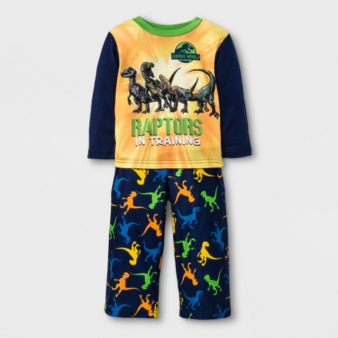 453b6858 Toddler Boys' Jurassic World 2pc Poly Pajama Set - Blue 2T : Target
