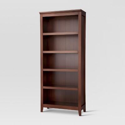 "72"" Carson 5 Shelf Bookcase Chestnut - Threshold™"