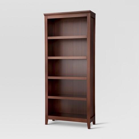 "72"" Carson 5 Shelf Bookcase Chestnut - Threshold™ - image 1 of 2"