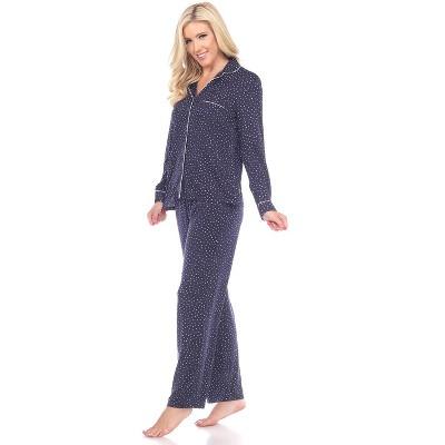 Women's Long Sleeve Pajama Set - White Mark