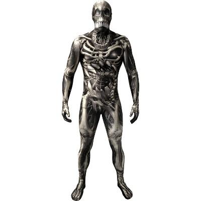 Adult Morph Skull N Bones Halloween Costume Shirt