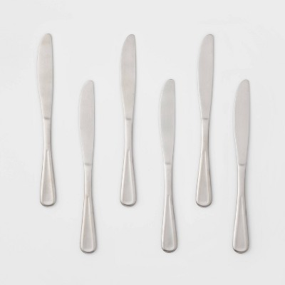 6pk Stainless Steel Olisa Satin Dinner Knives - Threshold™