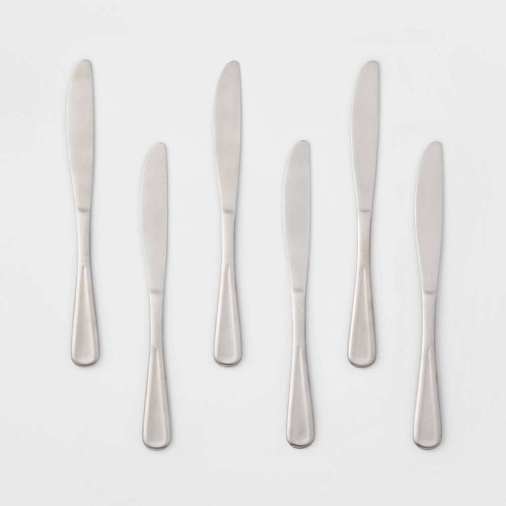 Image of 6pk Stainless Steel Olisa Satin Dinner Knives - Threshold