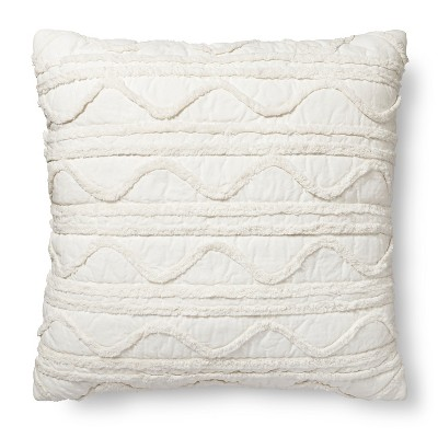 Cream Chenille Euro Throw Pillow (24 x24 )- Threshold™