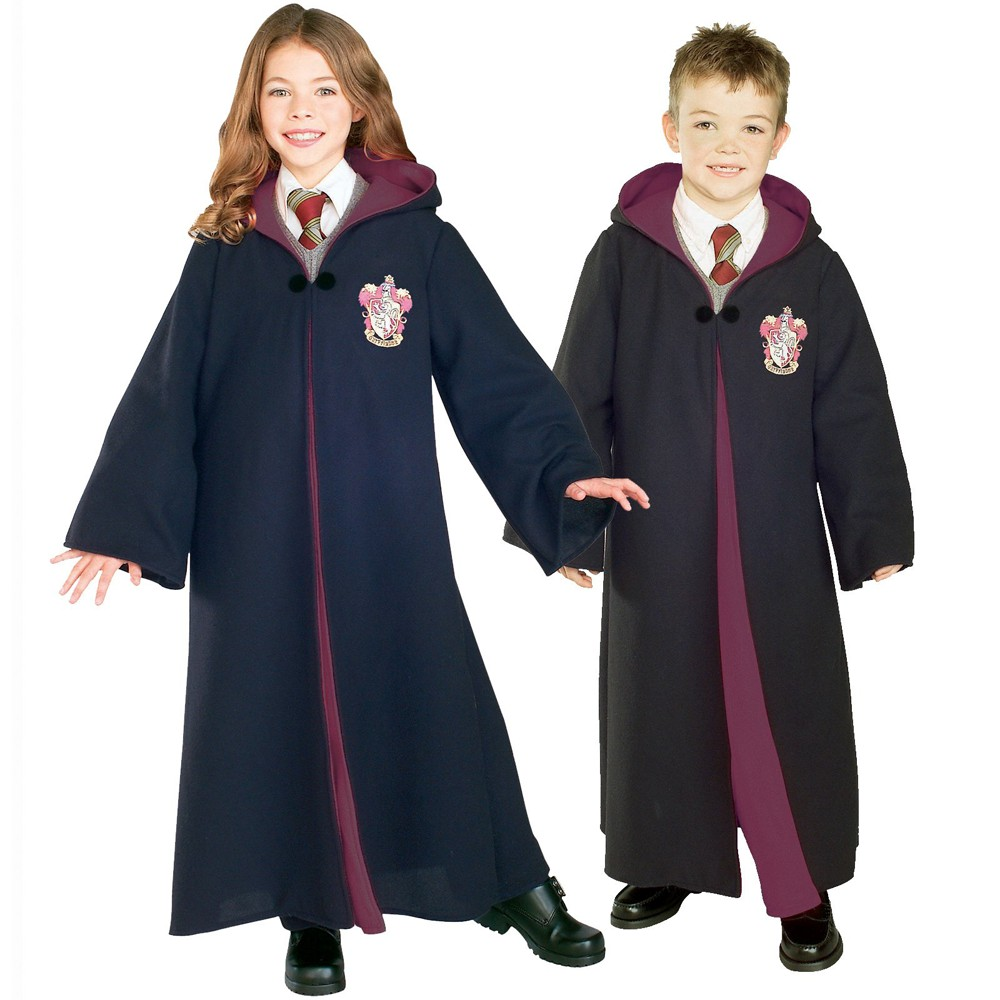 Image of Halloween Harry Potter Kids' Gryffindor Robe Deluxe Costume - Small, Adult Unisex, Size: Small(4-6), Black/White