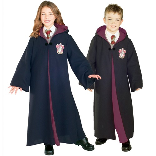 Halloween Harry Potter Kids' Gryffindor Robe Deluxe Costume - Medium, Adult Unisex, Size: Medium(8-10), Black/White