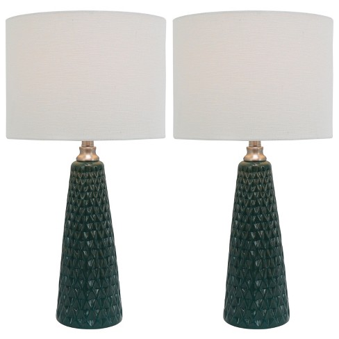 Coast Ceramic 2pk Table Lamps Emerald Lamp Only Decor Therapy