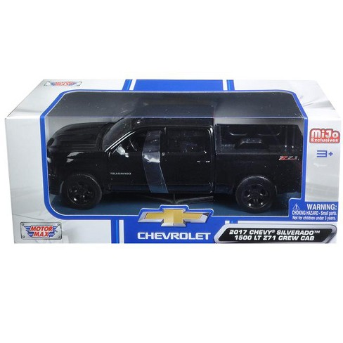 2017 Chevrolet Silverado 1500 Lt Z71 Crew Cab Black 1 24 Cast Model Car By Motormax Target