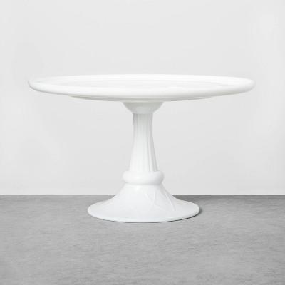 Tall White Milkglass Cake Stand - Hearth & Hand™ with Magnolia