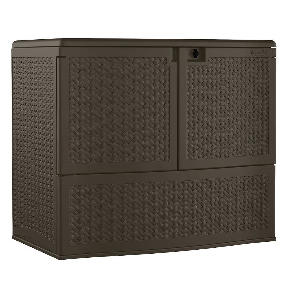 Resin Wicker Storage Buffet - Brown - Suncast