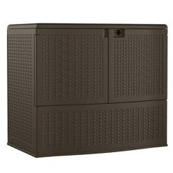 Resin Wicker Storage Buffet - Brown - Suncast