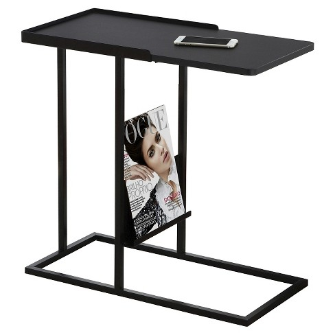 Accent Table with Magazine Rack - Black - EveryRoom - image 1 of 2