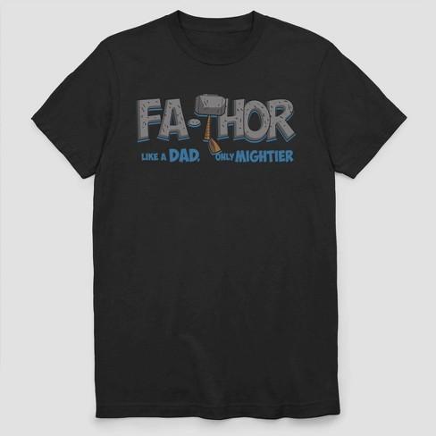 Men's Marvel Mighty FaTHOR Short Sleeve T-Shirt - Black - image 1 of 2