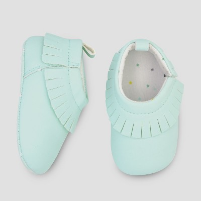 Baby Moccasin Shoes - Cloud Island™ Blue 3-6M