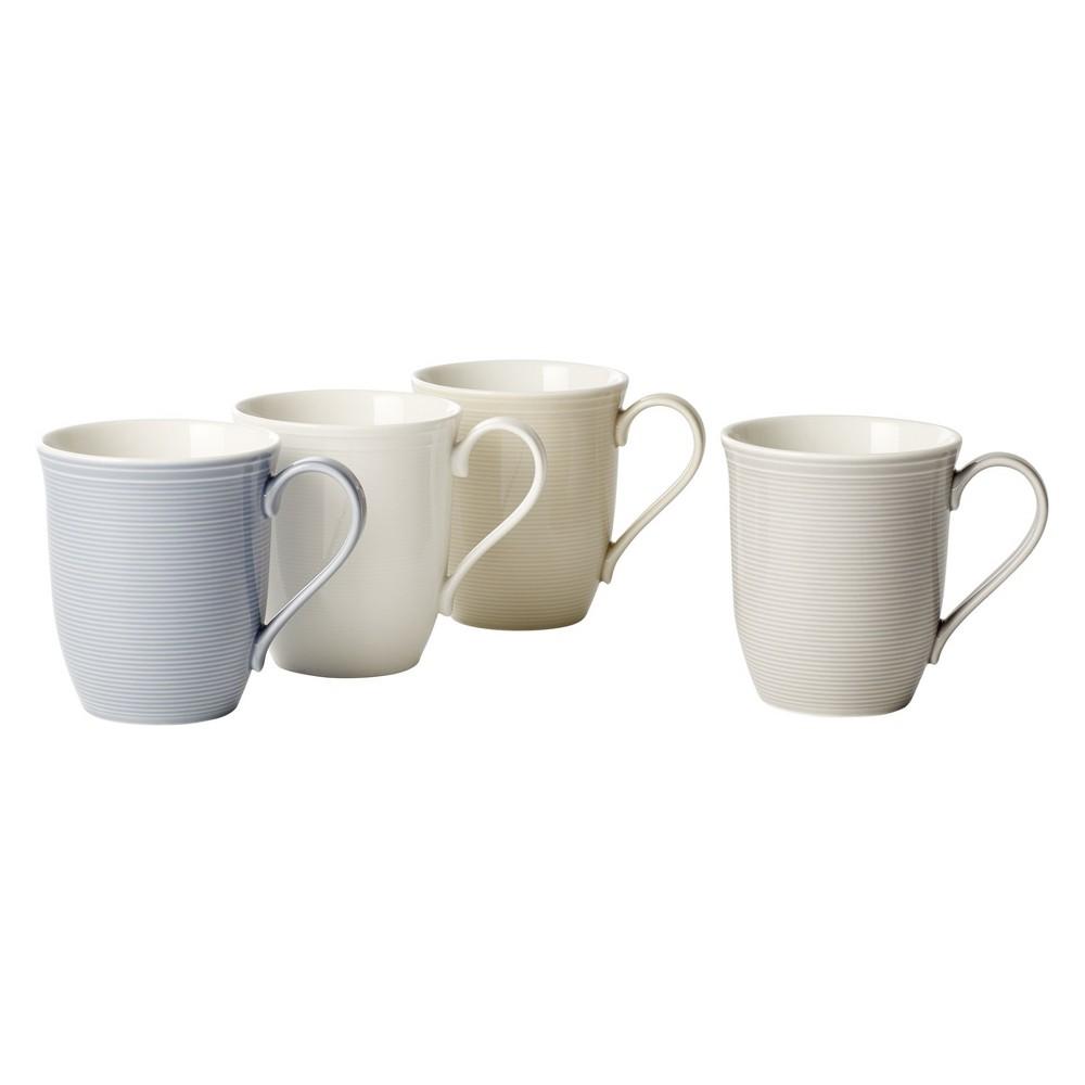 Image of 11.8oz 4pk Color Loop Porcelain Mugs - vivo by Villeroy & Boch