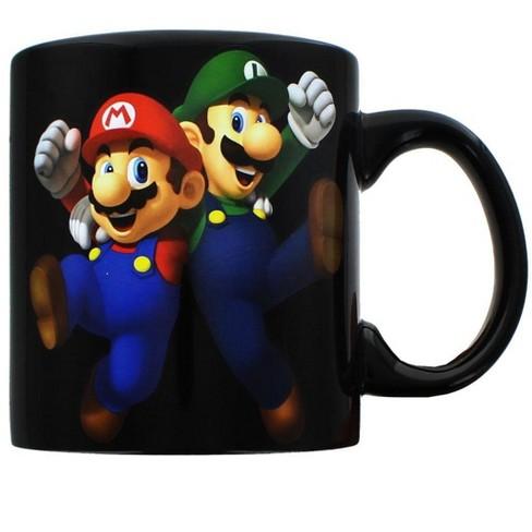 Just Funky Super Mario Bros Mario Luigi 20oz Ceramic Mug