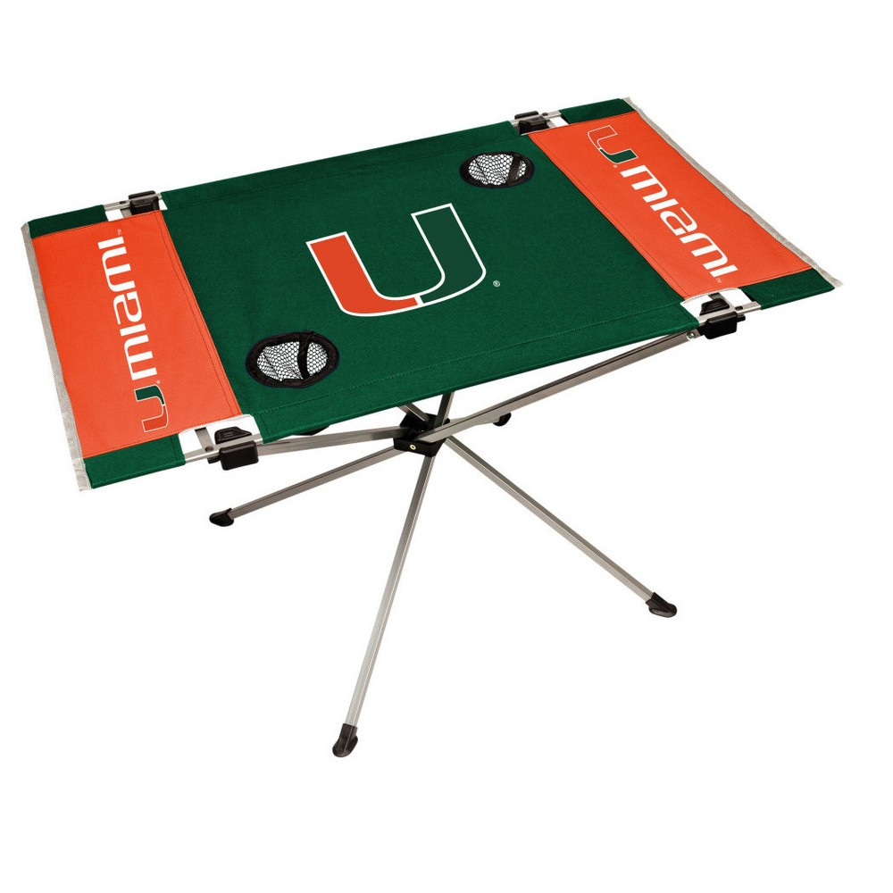 NCAA Rawlings Endzone Pop Up Table Miami Hurricanes