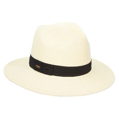 d7faf1d12e Women s Braided Fedora Hat With Ribbon Band - Ivory   Target