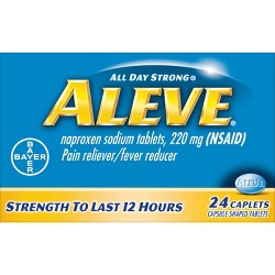 Aleve Pain Reliever & Fever Reducer Caplets - Naproxen Sodium (NSAID)