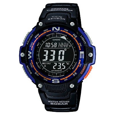 Men's Casio Twin Sensor Compass Watch - Black