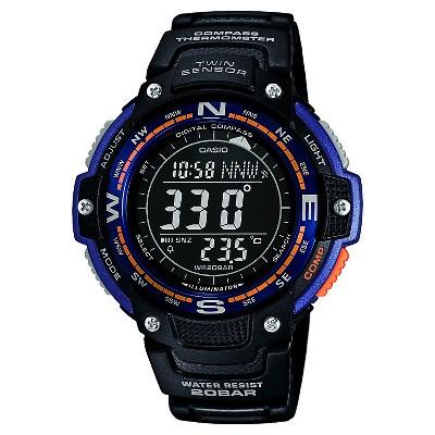 Men's Casio Twin Sensor Compass Watch - Black