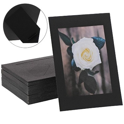Juvale Cardboard Photo Picture Frame Easel (50 Pack) 4 X 6 Inches, Black