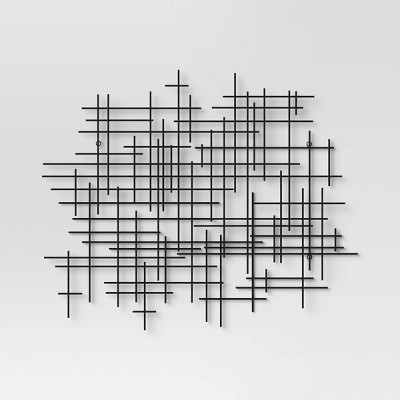 35.83 x29.53  Decorative Wall Sculpture Black - Project 62™