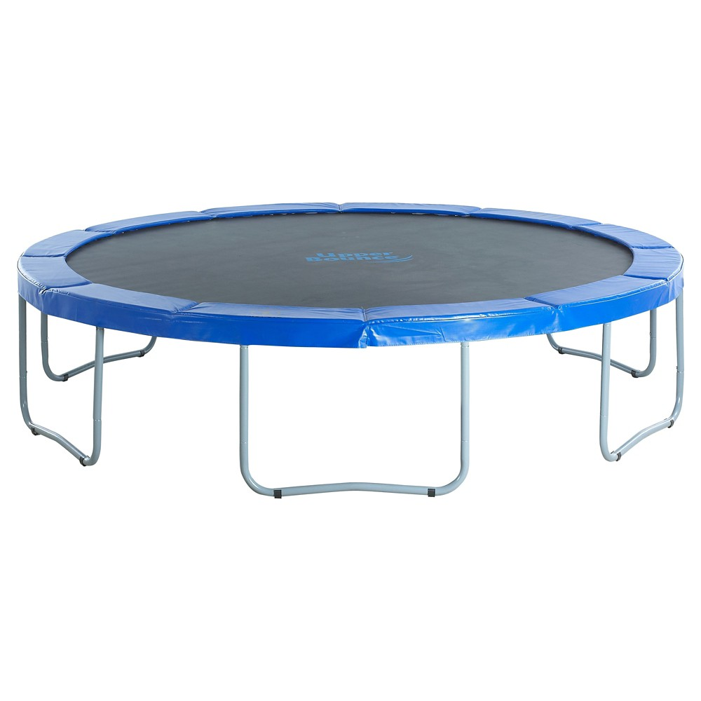 Upper Bounce 14' Round Trampoline With Blue Safety Pad