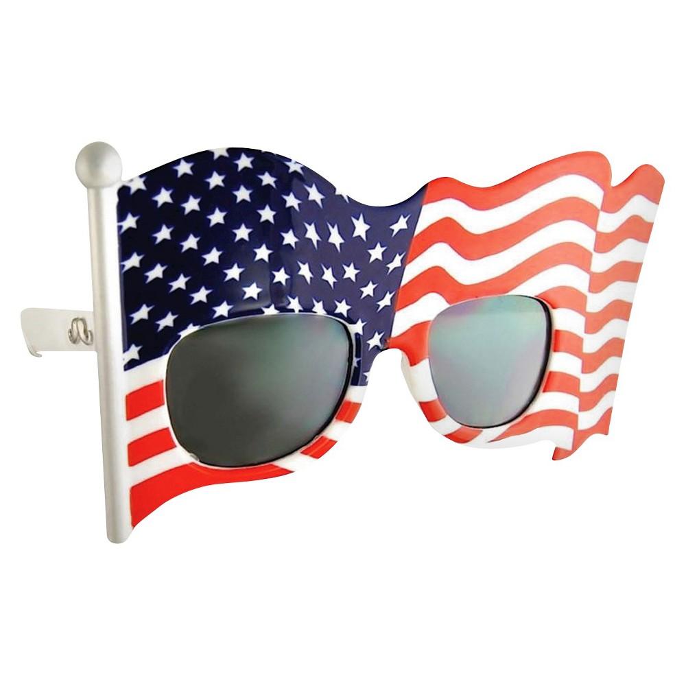 Sunstache Flag Dark Lenses - One Size Fits Most, Multi-Colored