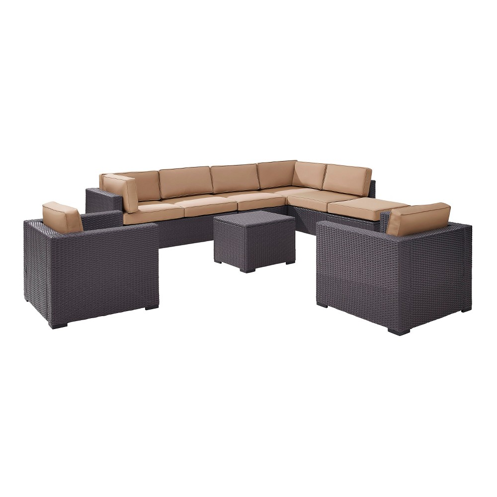 Biscayne 7pc All-Weather Wicker Seating Set - Mocha (Brown) - Crosley