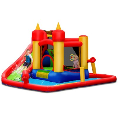 Costway Inflatable Water Slide Jumping Bounce House Bouncy Splash Park
