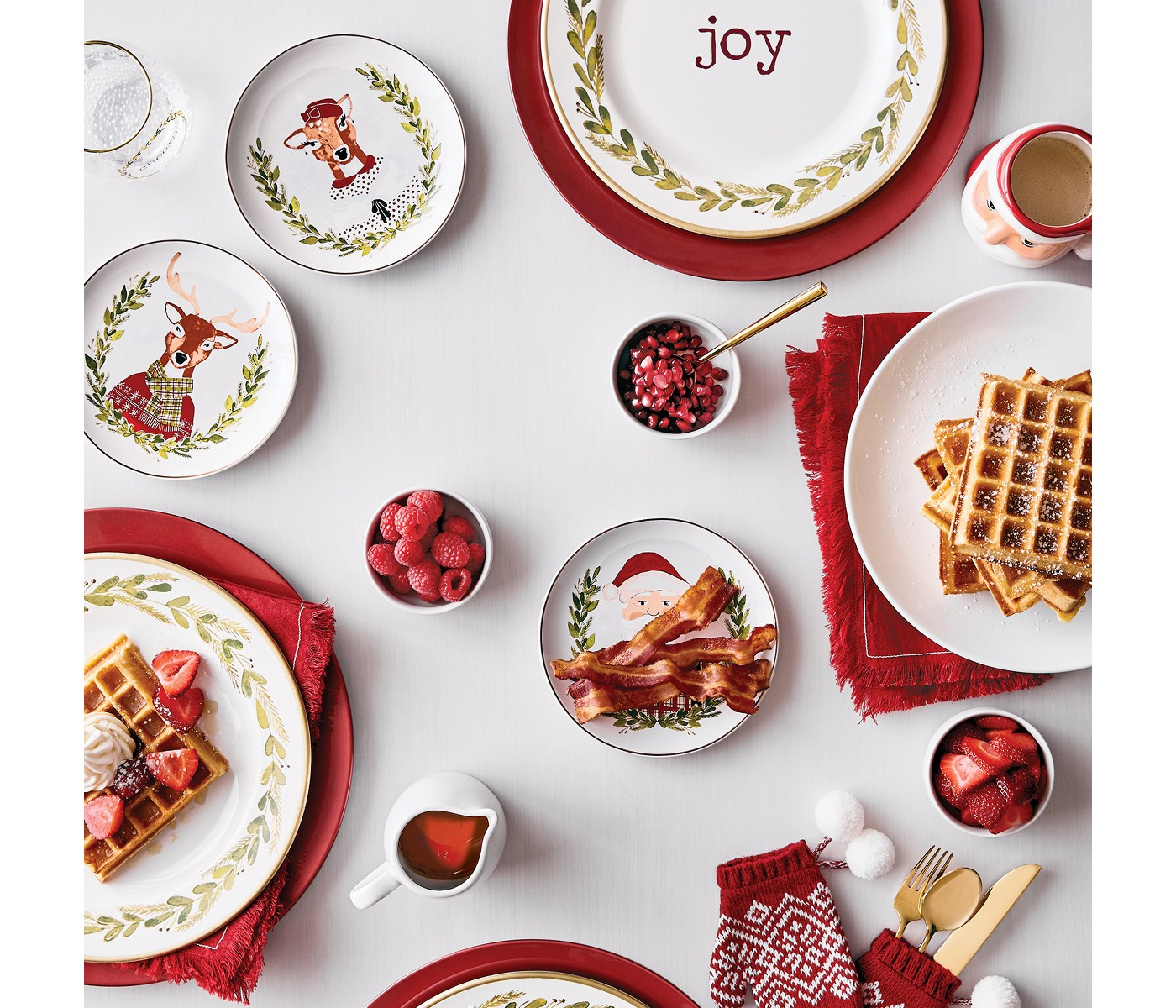 """10.9"""" Plastic Be Merry Dinner Plate White/Green - Thresholdâ""""¢ - image 2 of 2"""
