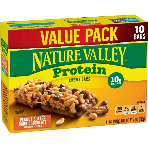 Nature Valley Peanut Butter Dark Chocolate Protein Chewy Bars 14 2oz 10ct Target