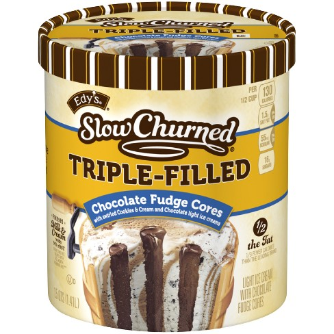 Edy's Slow Churned Triple Filled Chocolate Fudge Frozen Cores - 48oz - image 1 of 2