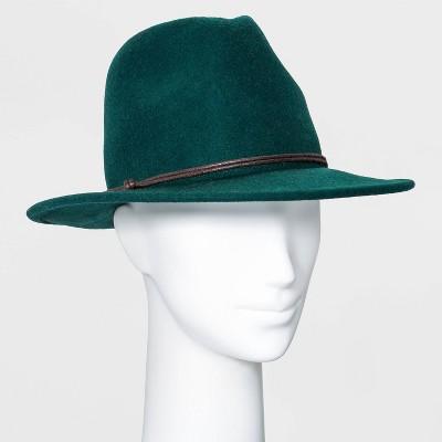 Women's Felt Fedora Hat - Universal Thread™ Green