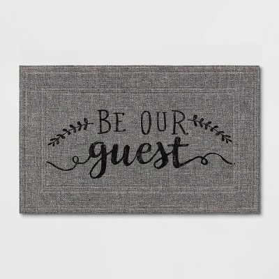 "1'6""x2'6"" ""Be Our Guest"" Mat Gray - Apache Mills"