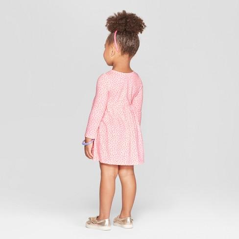1b66f387a46 Toddler Girls  Heart All Over Print A-Line Dress - Cat   Jack™ Pink   Target