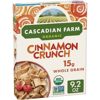Breakfast Cereal: Cascadian Farms Cinnamon Crunch