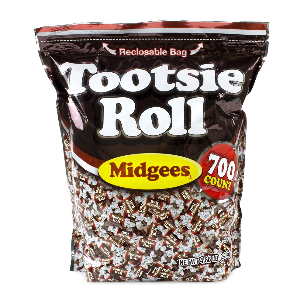 Tootsie Roll Chocolate Midgees - 700ct, Brown