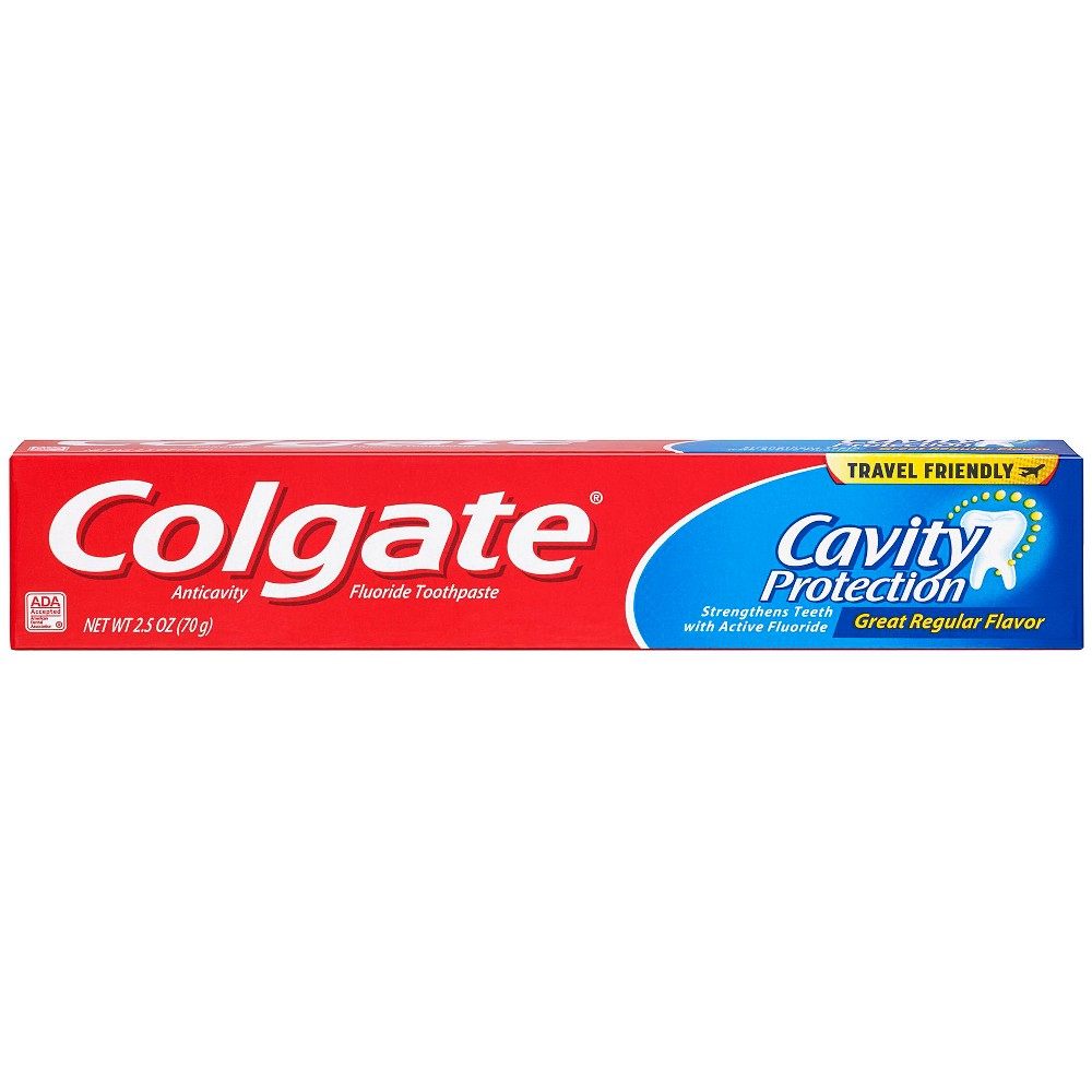 Image of Colgate Cavity Protection Toothpaste with Fluoride Great Regular Flavor - 2.5oz
