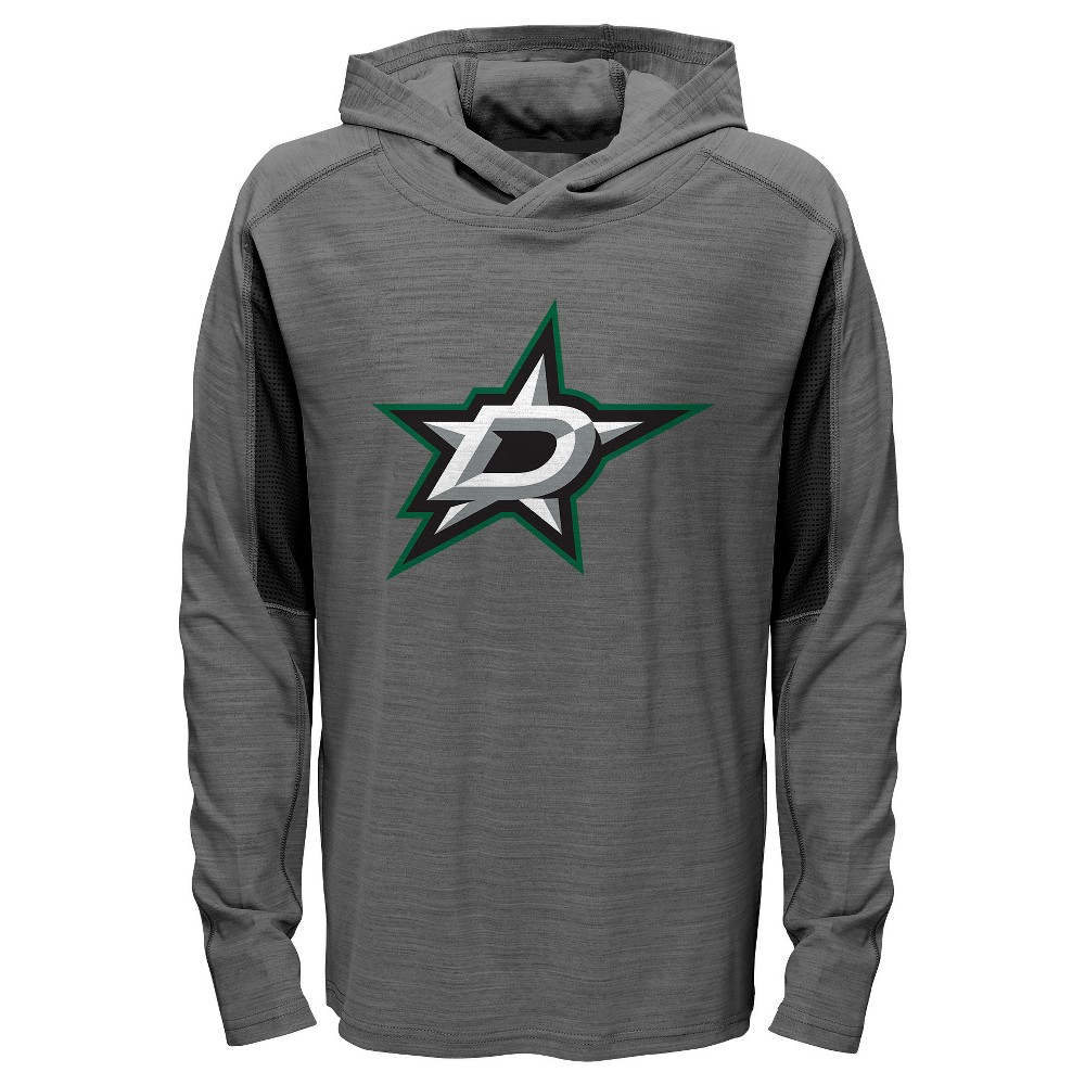 Dallas Stars Boys' Rink Rat Gray Lightweight Hoodie L, Multicolored