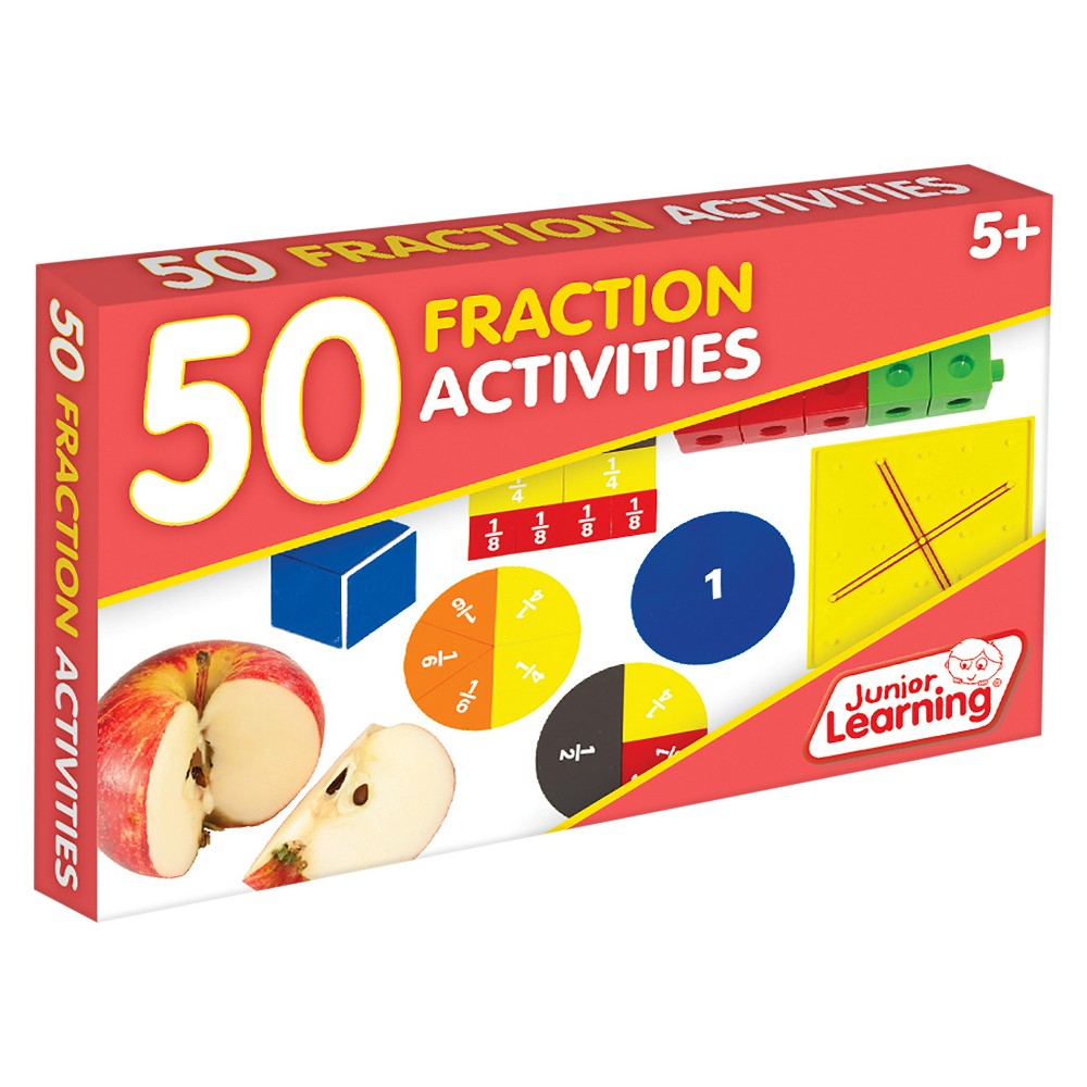 Image of Junior Learning 50 Fraction Activities Learning Set