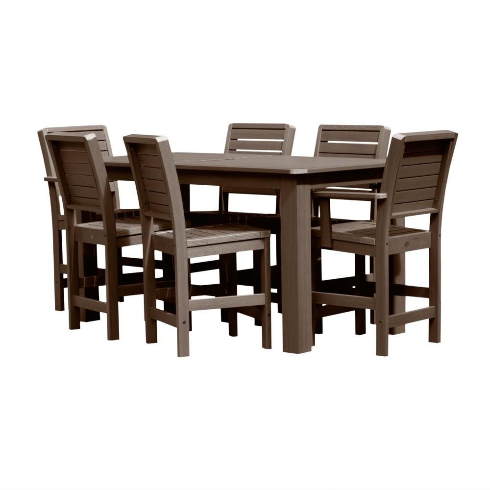 Weatherly 7pc Rectangular Counter Dining Set Weathered Acorn - Highwood