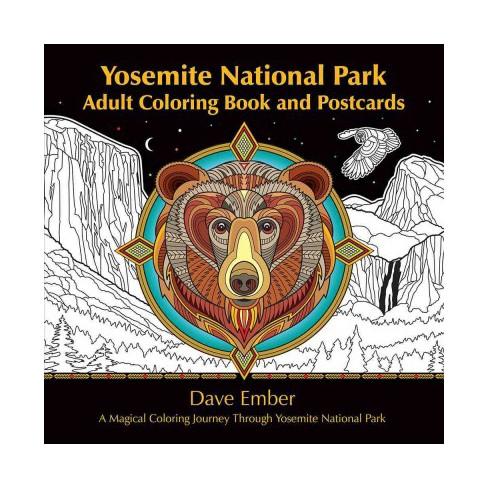 Yosemite National Park Adult Coloring Book A Magical